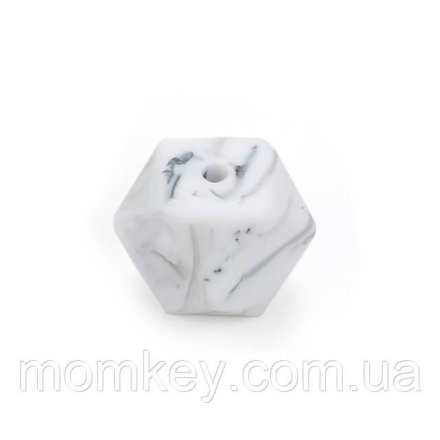 Шестиугольник 14 мм (мраморный)
