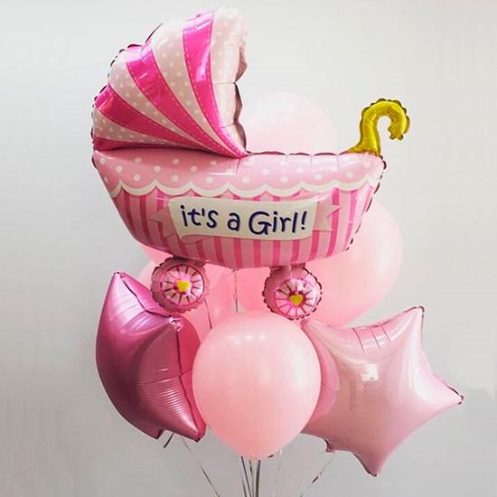 Букет з кульок для дівчинки