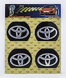 Наклейки на автомобильные колпаки и диски / комплект / диаметр 90 мм / TOYOTA, фото 2