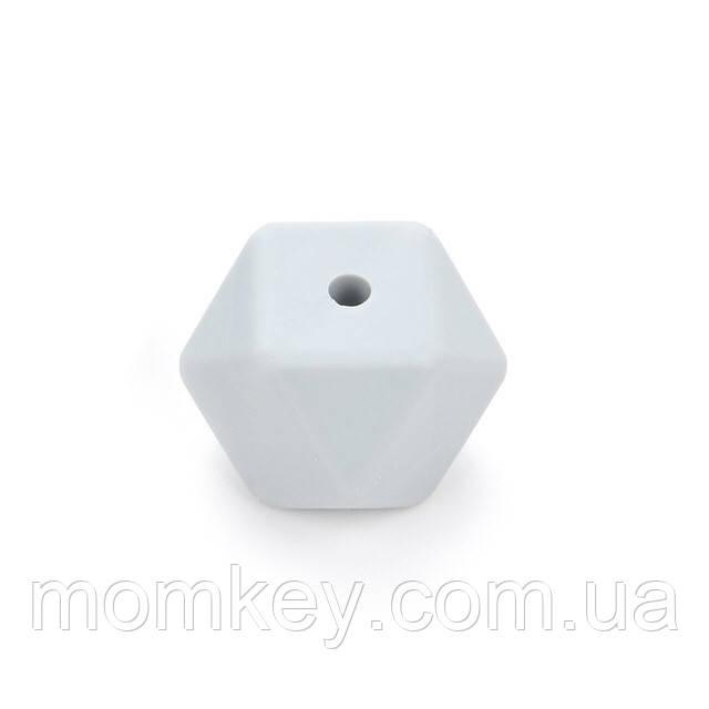 Шестикутник 17 мм (світло-сірий)