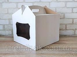 Коробка для торту 300*300*300 з вікном