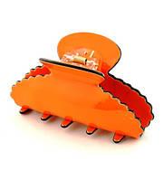 Краб для волос длина 8см оранжевый К2295-1-1, фото 1