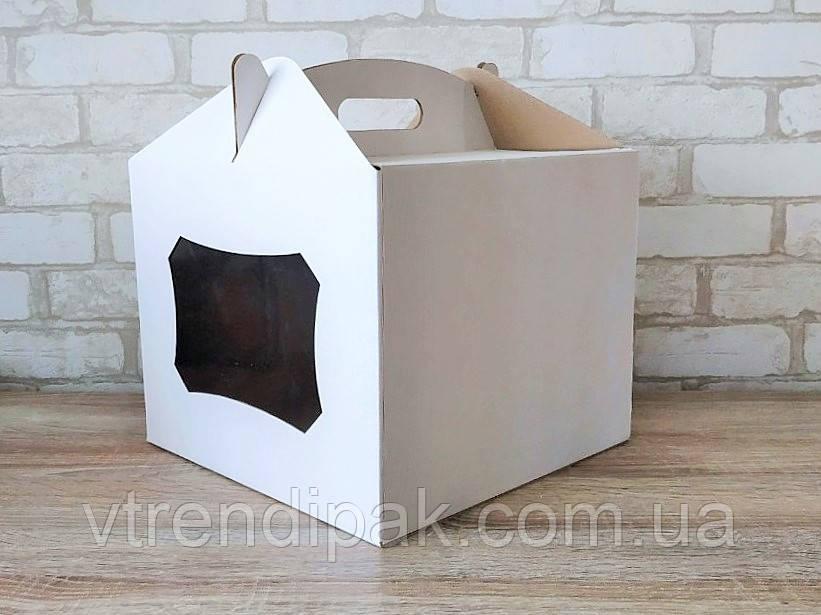 Коробка для торту 300*300*250 з вікном