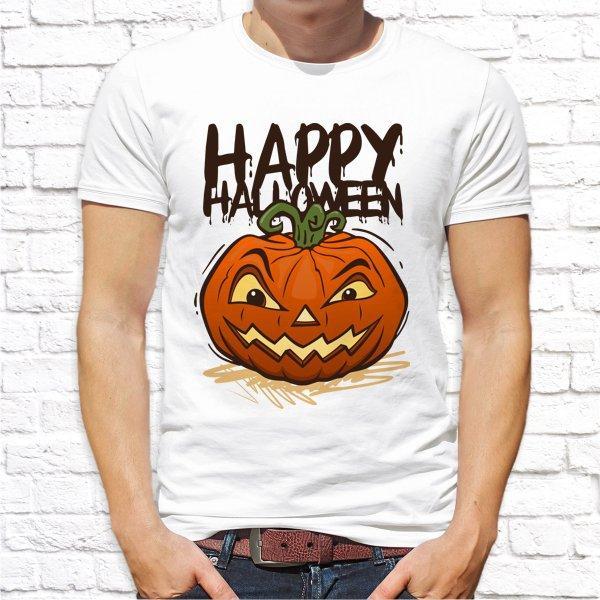 """Мужская футболка с принтом """"Happy halloween"""" Push IT"""