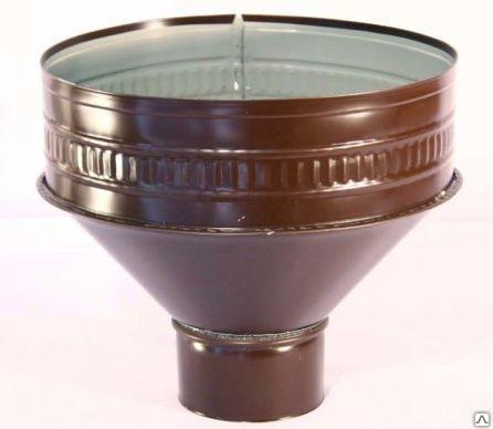 Воронка водосточная металлическая окрашенная