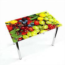 Стіл кухонний скляний Прямокутний Wood berry 91х61 *Еко (БЦ-стіл ТМ), фото 2