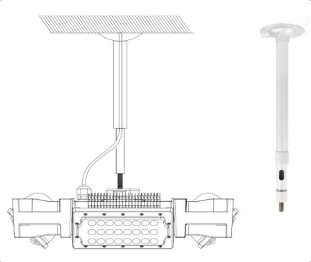 Подвесное крепление прожектора Космос CO 4Bay