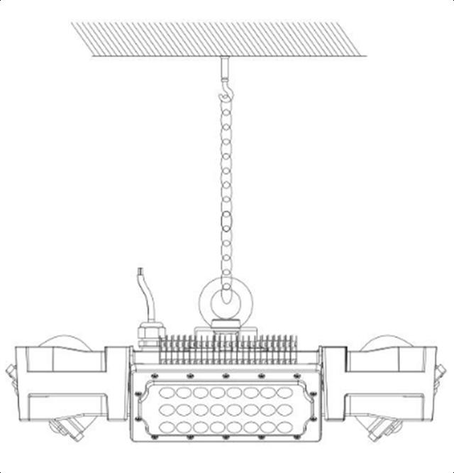 Подвесное крепление прожектора Космос CO 4Bay - 2