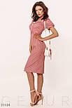 Летнее платье-миди в полоску с короткими рукавами красное, фото 3