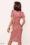 Летнее платье-миди в полоску с короткими рукавами красное, фото 4