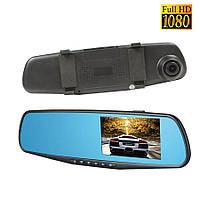 Видеорегистратор зеркало C12 IPS Экран, Full HD, 2 камеры, антиблик