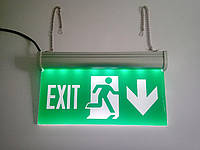 Указатель эвакуационного выхода для аварийного освещения 220В стрелкой вниз