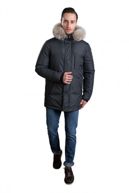 Зимняя удлиненная мужская куртка пуховик Hermzi 48-58р