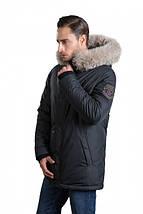 Зимняя удлиненная мужская куртка пуховик Hermzi 48-58р, фото 2