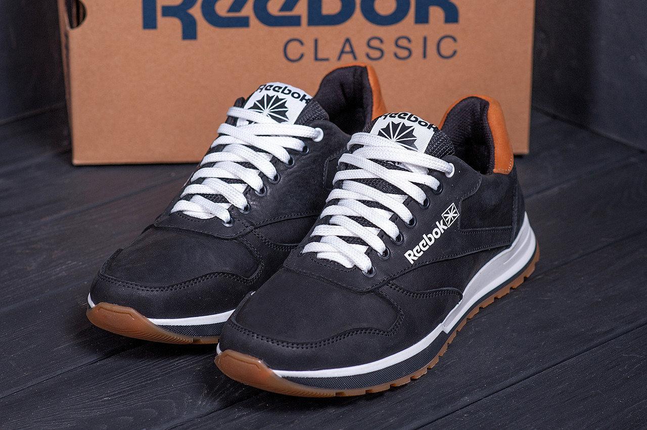 Кроссовки мужские кожаные в стиле Reebok Classic black