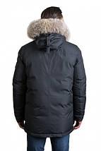 Зимняя удлиненная мужская куртка пуховик Hermzi 48-58р, фото 3