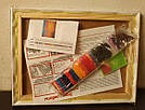 Рисование камнями на холсте Rainbow Art Букет у окна (PDA81) 30 х 40 см (На подрамнике), фото 3