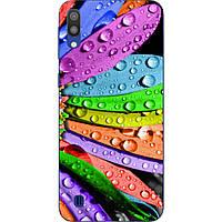 Чехол силиконовый с картинкой для Samsung Galaxy M10 Роса на лепестках