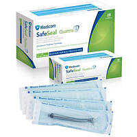 Стерилизационные пакеты Medicom SafeSeal Quattro, 57x 102 мм, 200 шт.