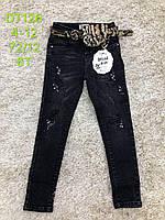 Джинсы для девочек оптом, S&D, 6-16 лет,  № DT126