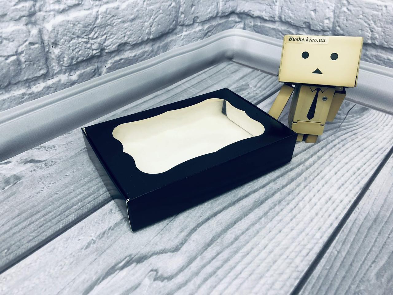 *10 шт* / Коробка для пряников / 100х150х30 мм / печать-Черн / окно-обычн