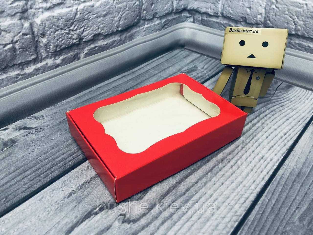 *10 шт* / Коробка для пряников / 100х150х30 мм / печать-Красн / окно-обычн