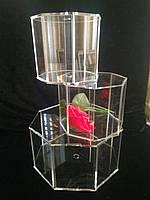 Акриловый куб,многогранник,вставка для многоярусных тортов 15*15*10 (код 06821)