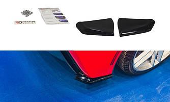 Боковые диффузоры заднего бампера юбка элерон накладки тюнинг Chevrolet Corvette C7