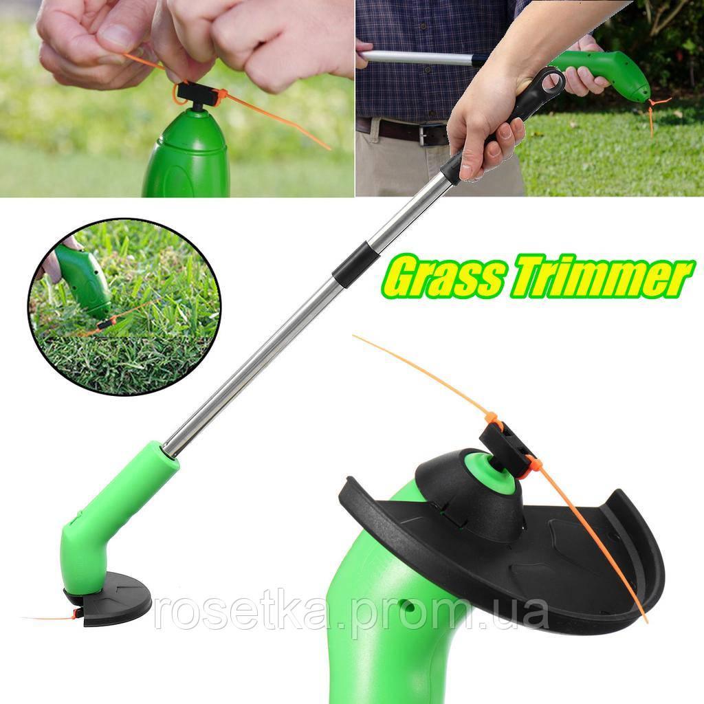 Портативный триммер для садового декора Zip Trim, ручная беспроводная газонокосилка для травы Зип Трим