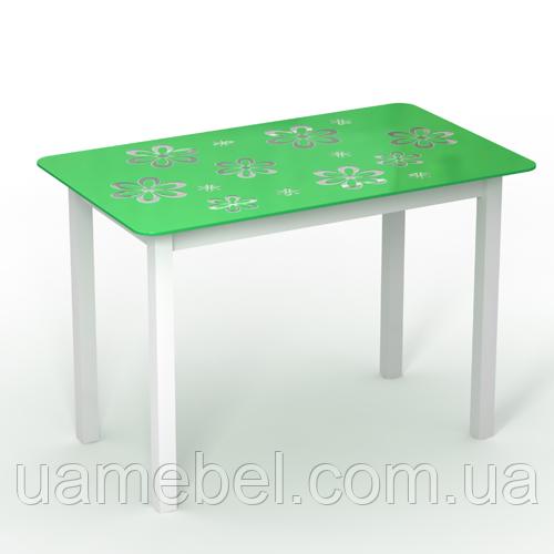 """Обідній стіл скляний """"Монарх Букет"""""""
