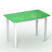 """Обідній стіл скляний """"Монарх Букет"""", фото 1"""