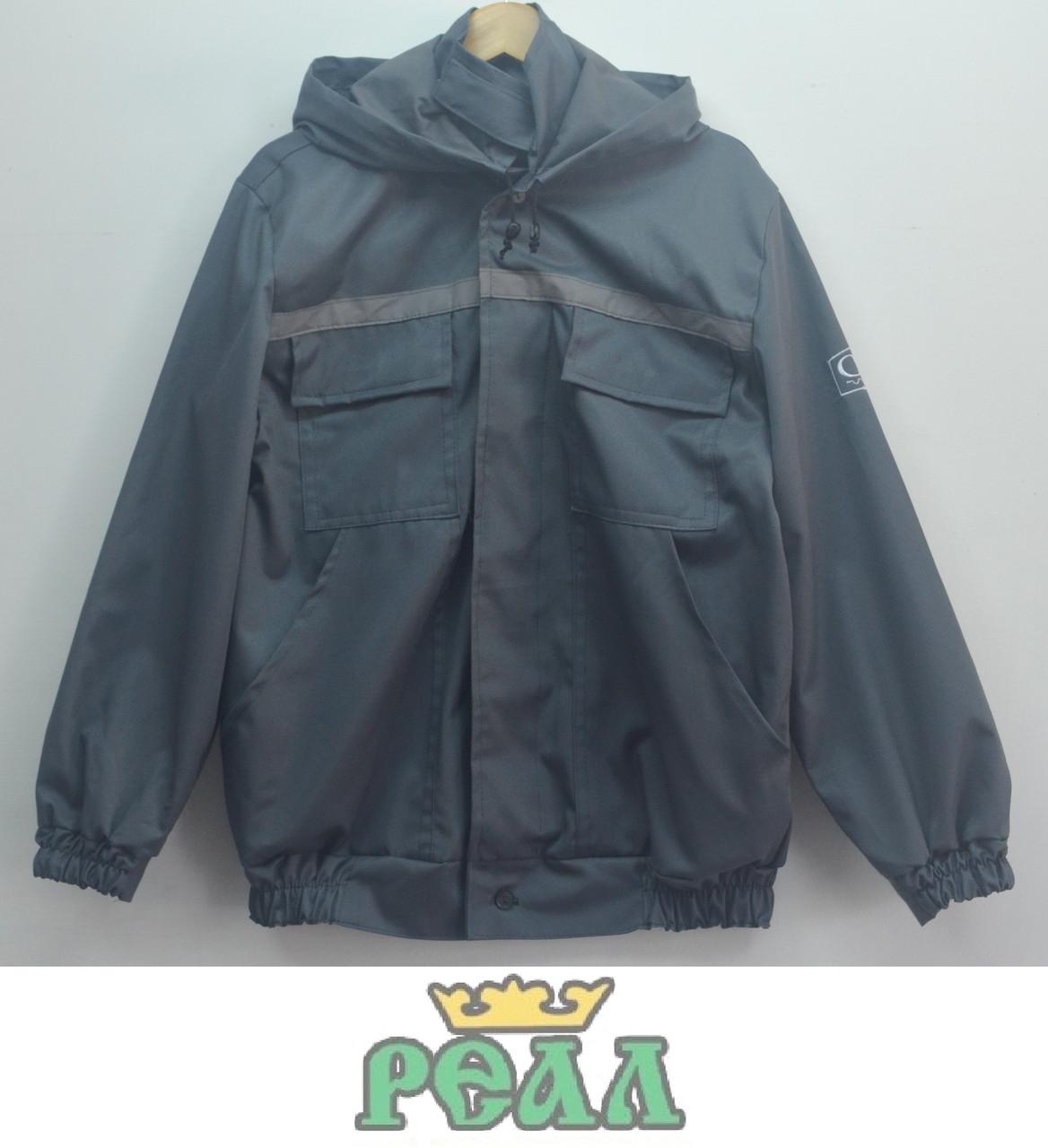 Костюм робочий з логотипом на рукаві (куртка з капішоном і штани), (пошиття спецодягу під замовлення), фото 1