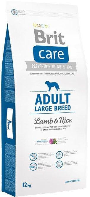 Сухий корм Brit Care Adult L для собак великих порід, ягням і рисом 12КГ