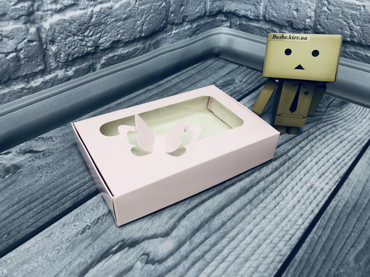 *10 шт* / Коробка для пряников / 100х150х30 мм / печать-Пудр / окно-Бабочка / лк