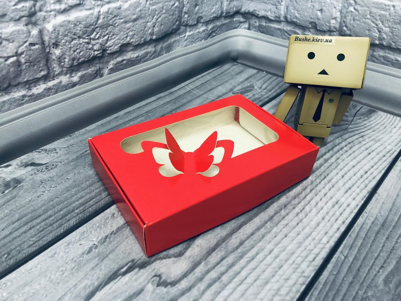 *10 шт* / Коробка для пряников / 100х150х30 мм / печать-Красн / окно-Бабочка