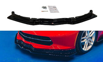Диффузор переднего бампера губа элерон накладки тюнинг Chevrolet Corvette C7