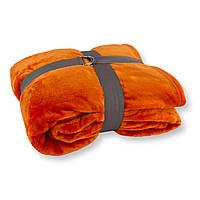 Плед флісовий 140х200см помаранчевий
