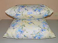 Подушка для сна 50х70 см наполнитель холофайбер ткань хлопок тик антиалергенная (Х-568), фото 1