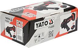 Шлифмашина угловая аккумуляторная 125 мм YATO YT-82828, фото 2