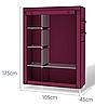Складной тканевый шкаф 6 отделений HCX Storage Wardrobe КОРИЧНЕВЫЙ, фото 2