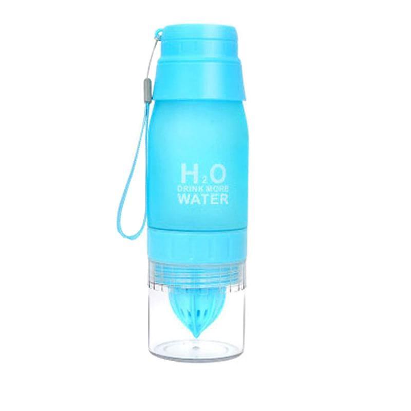 Бутылка соковыжималка H2O NEW голубая 650 мл (WB-4880)