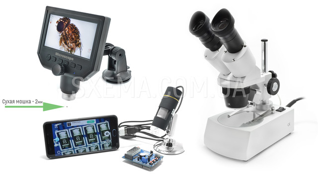 Микроскопы цифровые и бинокулярные