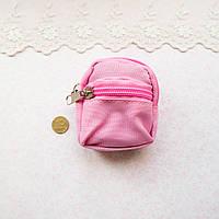 Рюкзак из Ткани на Молнии 8*7.5 см РОЗОВЫЙ