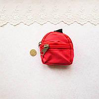 Рюкзак из Ткани на Молнии 8*7.5 см КРАСНЫЙ
