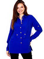 Женская льняная блуза больших размеров в разных расцветках