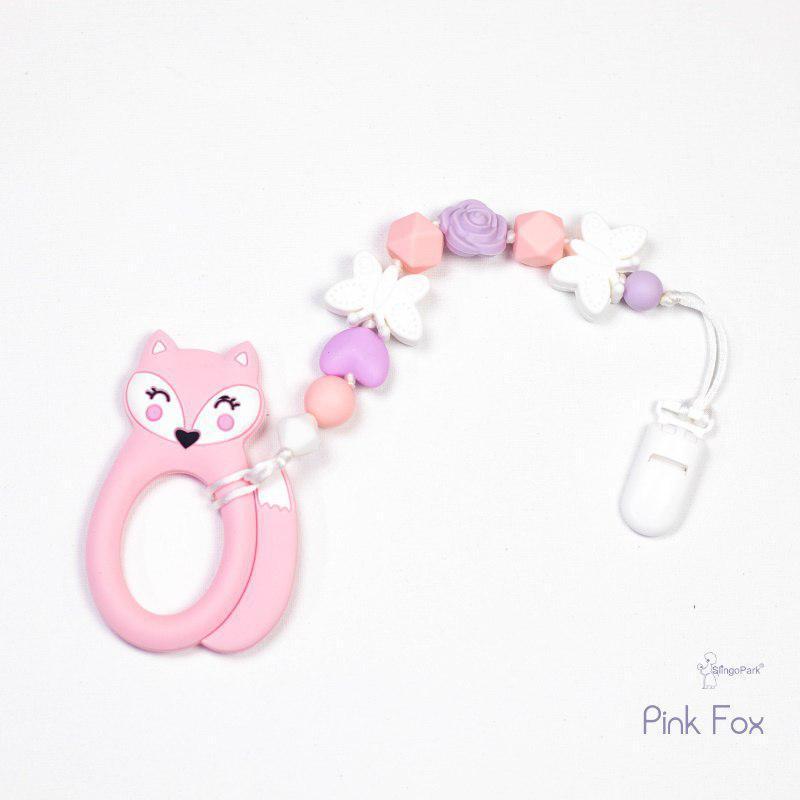 Грызунок из пищевого силикона Pink Fox BABY MILK TEETH