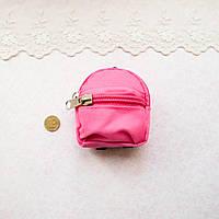 Рюкзак из Ткани на Молнии 8*7.5  см МАЛИНОВЫЙ