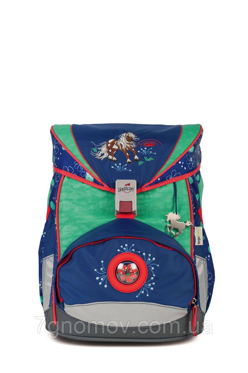 Ранец школьный ортопедический облегченный с наполнением на 5 предметов DerDieDas Happy Ponny 8405047