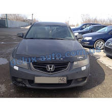 Мухобойка на капот с молдингом HONDA Accord VII 2002-2006 Дефлектор капота на Хонда Акорд 7 2002-2006
