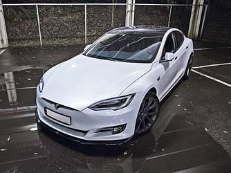 Пороги Tesla Model S тюнинг юбки элерон сплиттер
